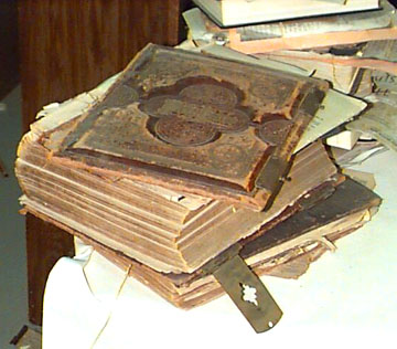 Badly damaged Family Bible